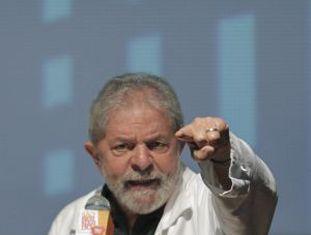 O ex-presidente Lula, neste sábado em São Bernardo do Campo.
