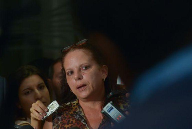 A médica cubana Ramona Rodriguez dá entrevista no Congresso Nacional.