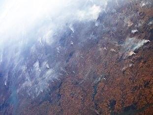 Incêndios na Amazônia vistos da Estação Espacial dia 24 de Agosto de 2019.