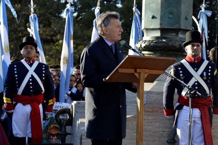 Mauricio Macri em Rosario, o 20 de junho.