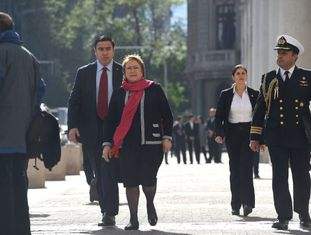 A presidenta do Chile, Michelle Bachelet.