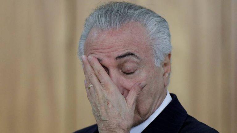 Temer, durante cerimônia em Brasília.
