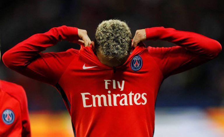 Neymar, durante o jogo entre PSG e Olympique de Lyon.
