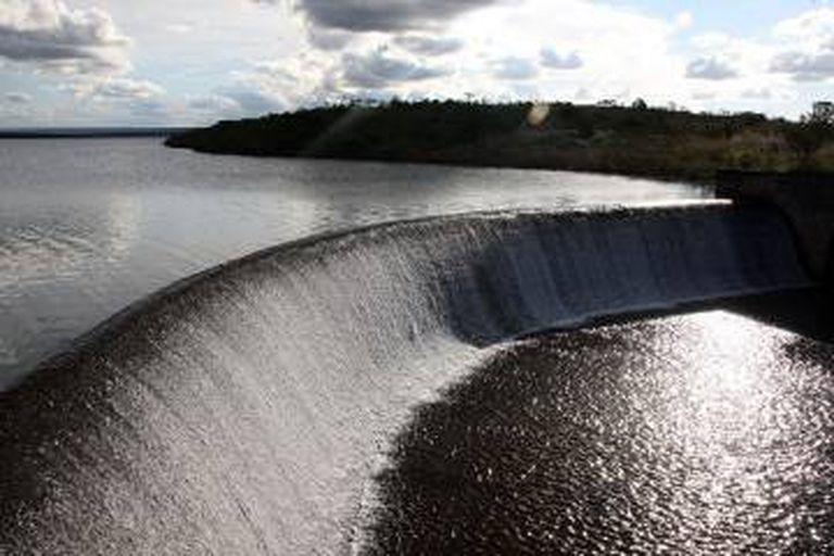 A barragem de Santa Maria em maio de 2015.
