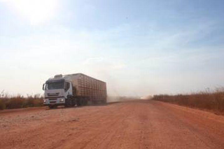 BR-158 é usada, sobretudo, pelos caminhões de gado e soja.