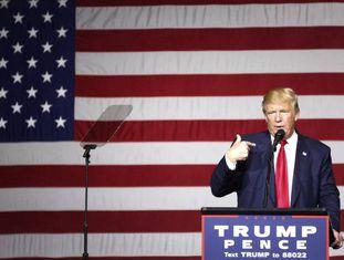 O presidente eleito dos Estados Unidos, Donald Trump.