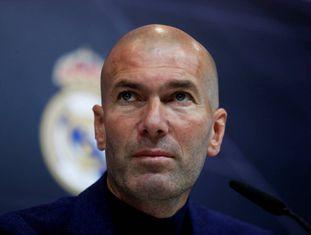 Zidane, na coletiva de imprensa.