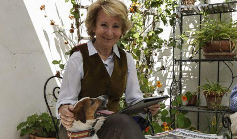 Esperanza Aguirre, candidata à prefeitura de Madri, passou a chamada 'jornada de reflexão', no sábado, em companhia de seus netos, com quem tomou o café da manhã na sua casa, no bairro de Malasaña. Antes, passeou com seu cão, Pecas, e comprou jornais e revistas.