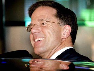 O primeiro-ministro holandês, Mark Rutte, nesta quinta-feira em Haia.