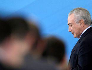 Michel Temer no último dia 29, no Palácio do Planalto.