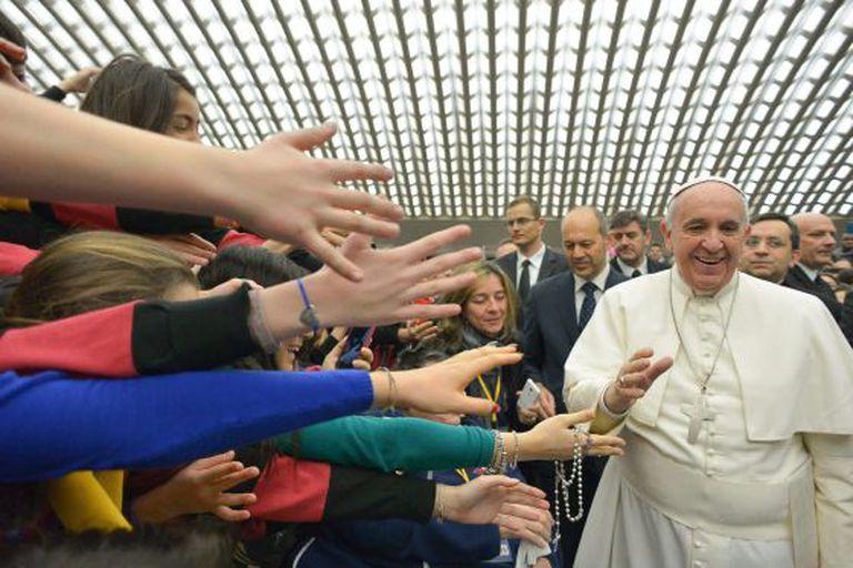 O Papa em audiência no Vaticano, no dia 4,  