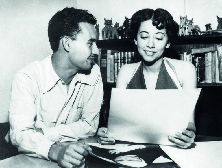 Fernando Torres e Fernanda Montenegro, em 1953, recém casados.