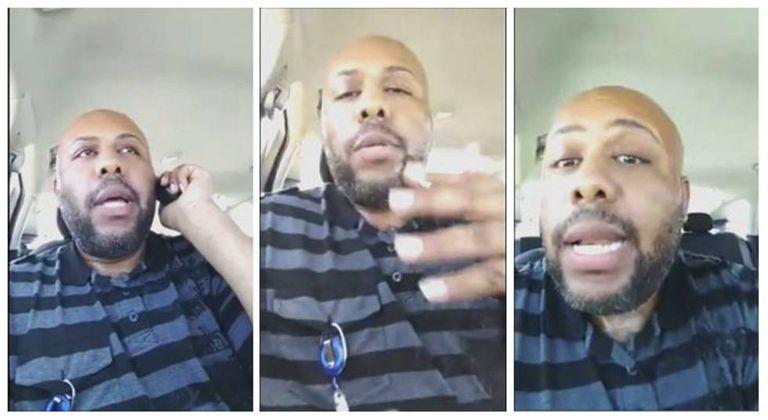 Steve Stephens, o assassino de Cleveland, durante a transmissão do crime ao vivo pelo Facebook.