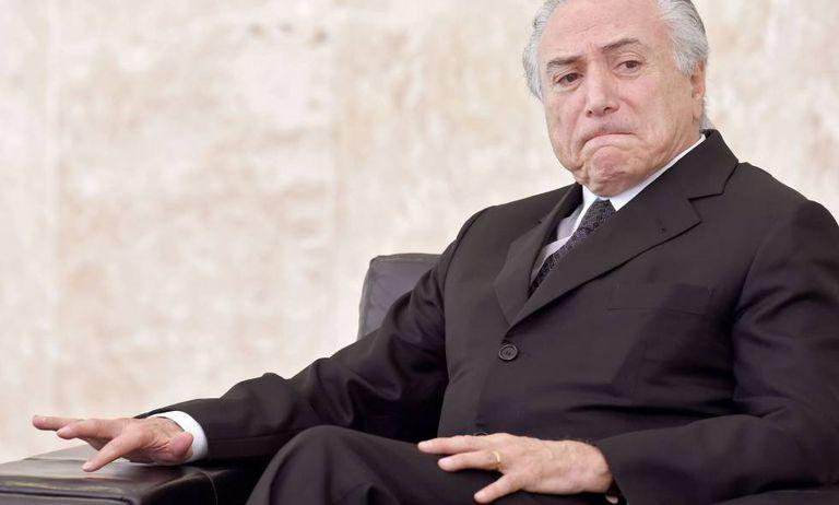 O presidente interino, Michel Temer.