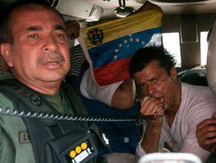 Leopoldo López, no dia 18 de fevereiro de 2014, quando foi preso.