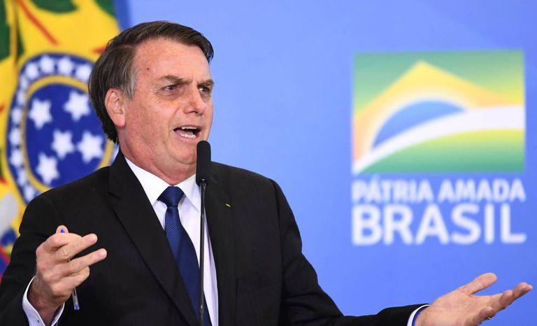 Bolsonaro em evento no Palácio do Planalto, no dia 7 de maio.