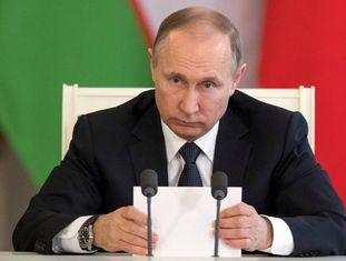 O presidente Putin nesta quarta-feira em Moscou.