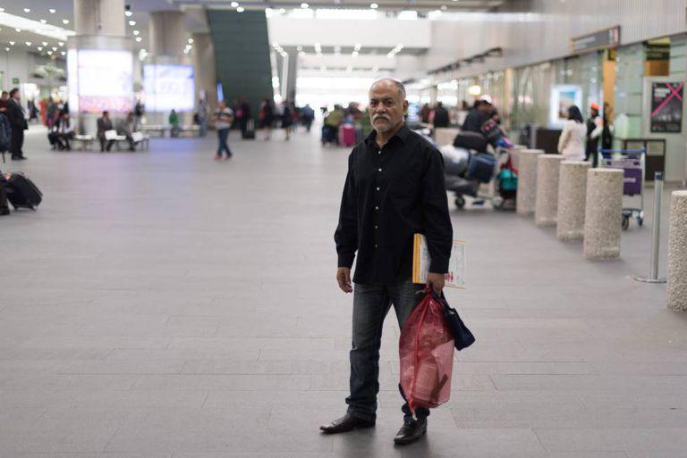 Efraín Fragoso, de 56 anos, foi deportado dos Estados Unidos.