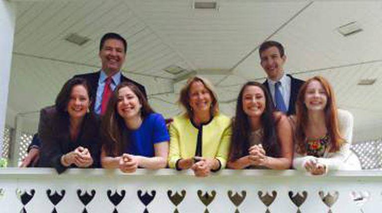 James Comey com a família.