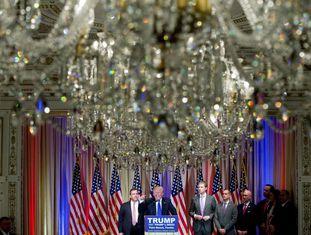 Donald Trump em coletiva de imprensa.