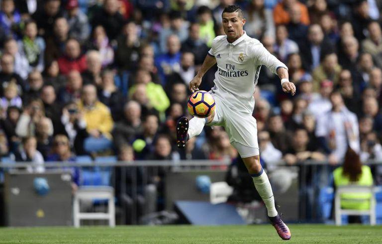 Cristiano Ronaldo no jogo contra o Leganés.