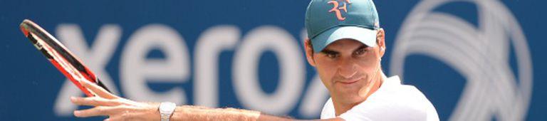 Federer durante um treino.