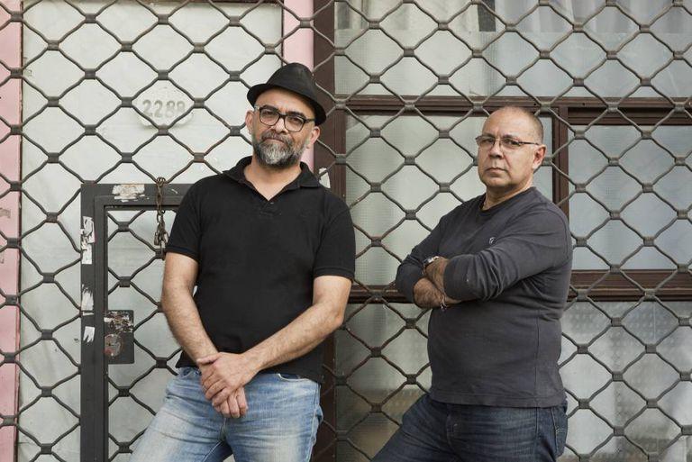 Javier Pereyra (esq.) e Claudio Porpora.