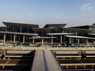 Vista geral do novo terminal do aeroporto de Guarulhos, no Brasil.