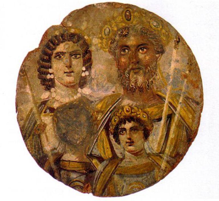 Septimio Severo e sua família
