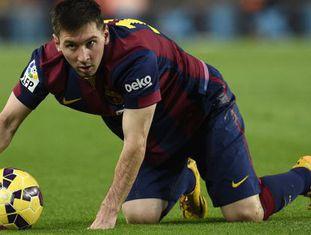 O atacante do Barça, Leo Messi.
