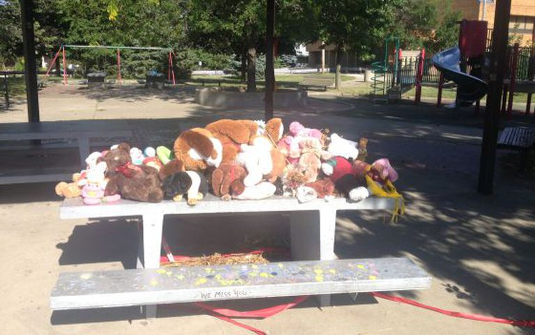 O parque de Cleveland, na sexta-feira, onde morreu um menino que portava uma arma de brinquedo.