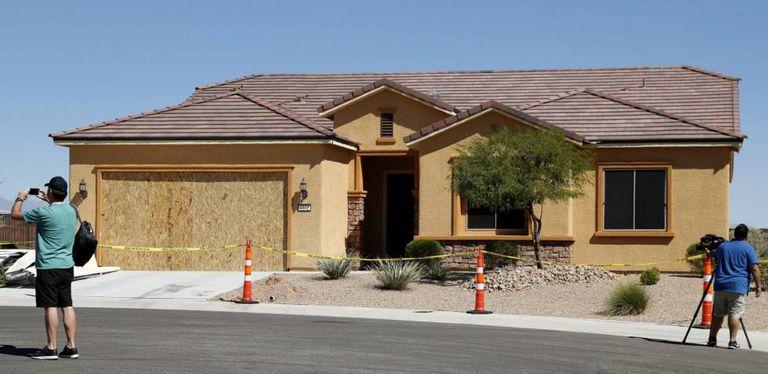 A casa de Stephen Paddock, na última terça-feira, em Mesquite, Nevada