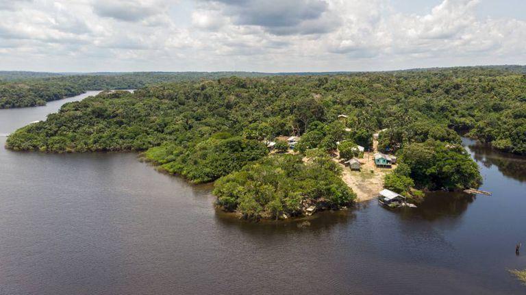 A comunidade de São Francisco do Mainã, em um afluente do Amazonas.