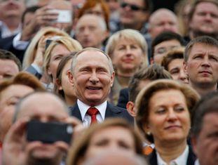 O presidente Putin neste sábado no aniversário da fundação de Moscou.