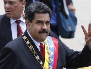 Presidente da Venezuela, Nicolas Maduro, durante comemoração do dia da independência.