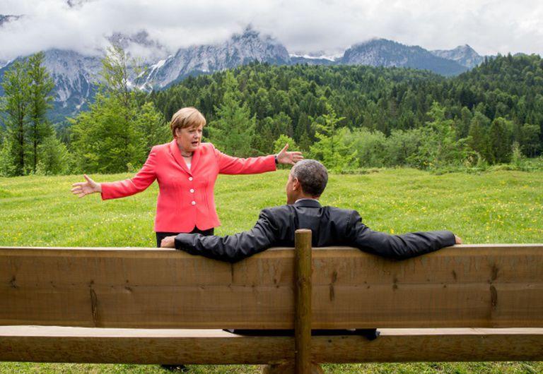 La foto de Merkel i Obama que s'ha convertit en viral.