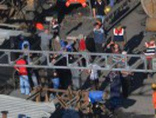 Ainda há centenas de soterrados no local, onde 700 pessoas trabalhavam a 200 metros de profundidade