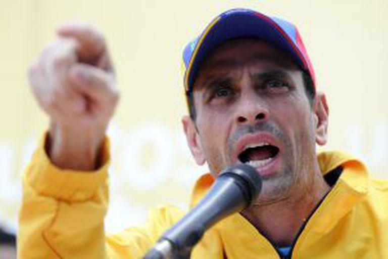 Henrique Capriles neste domingo.