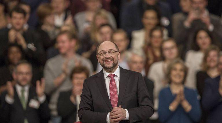 Martin Schulz, no congresso do SPD em Berlim onde foi eleito novo líder do partido e candidato a chanceler