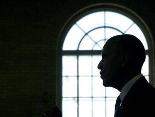O presidente Obama na academia Benjamin Banneker, em Washington.