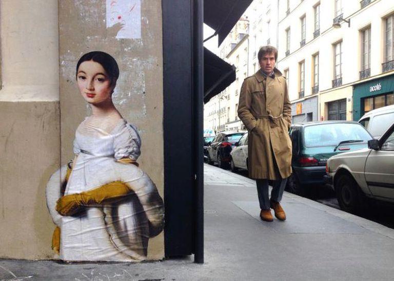 Um quadro pouco conhecido do Louvre copiado nas ruas de Paris.