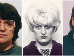 De esquerda para a direita, Rosemary West, Myra Hindley e Beverley Allitt .