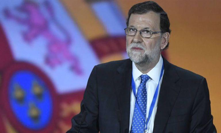 Mariano Rajoy em janeiro na cerimônia de encerramento do congresso do PP, em Madri.