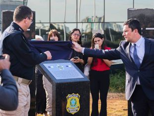 Moro em solenidade comemorativa da Polícia Rodoviária Federal.