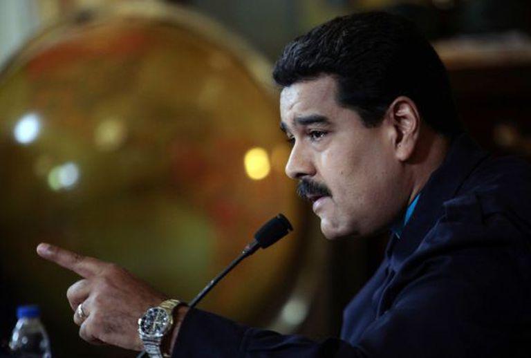 O presidente venezuelano, Nicolás Maduro, nesta segunda-feira.