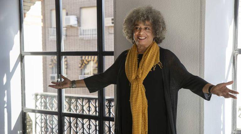 Angela Davis, em Madri.