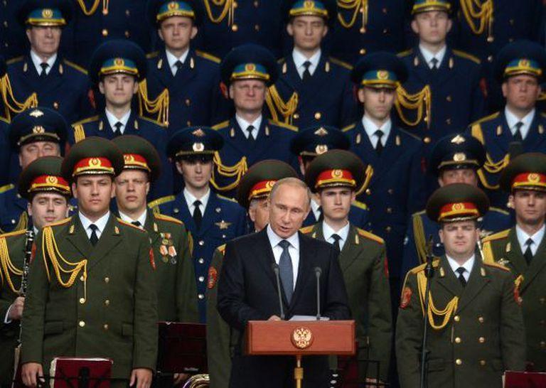 Putin nesta terça-feira em uma feira militar em Kubinka, nos arredores de Moscou.