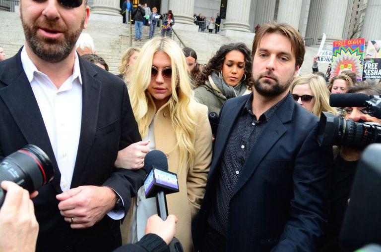 Kesha, à saída do tribunal de Nova York na passada sexta-feira.