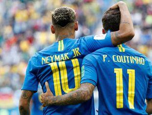 Neymar e Philippe Coutinho anotaram os gols do Brasil em vitória dramática.