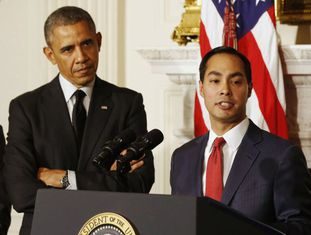 Barack Obama e Julián Castro.